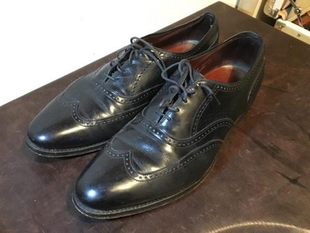 磨く前の靴