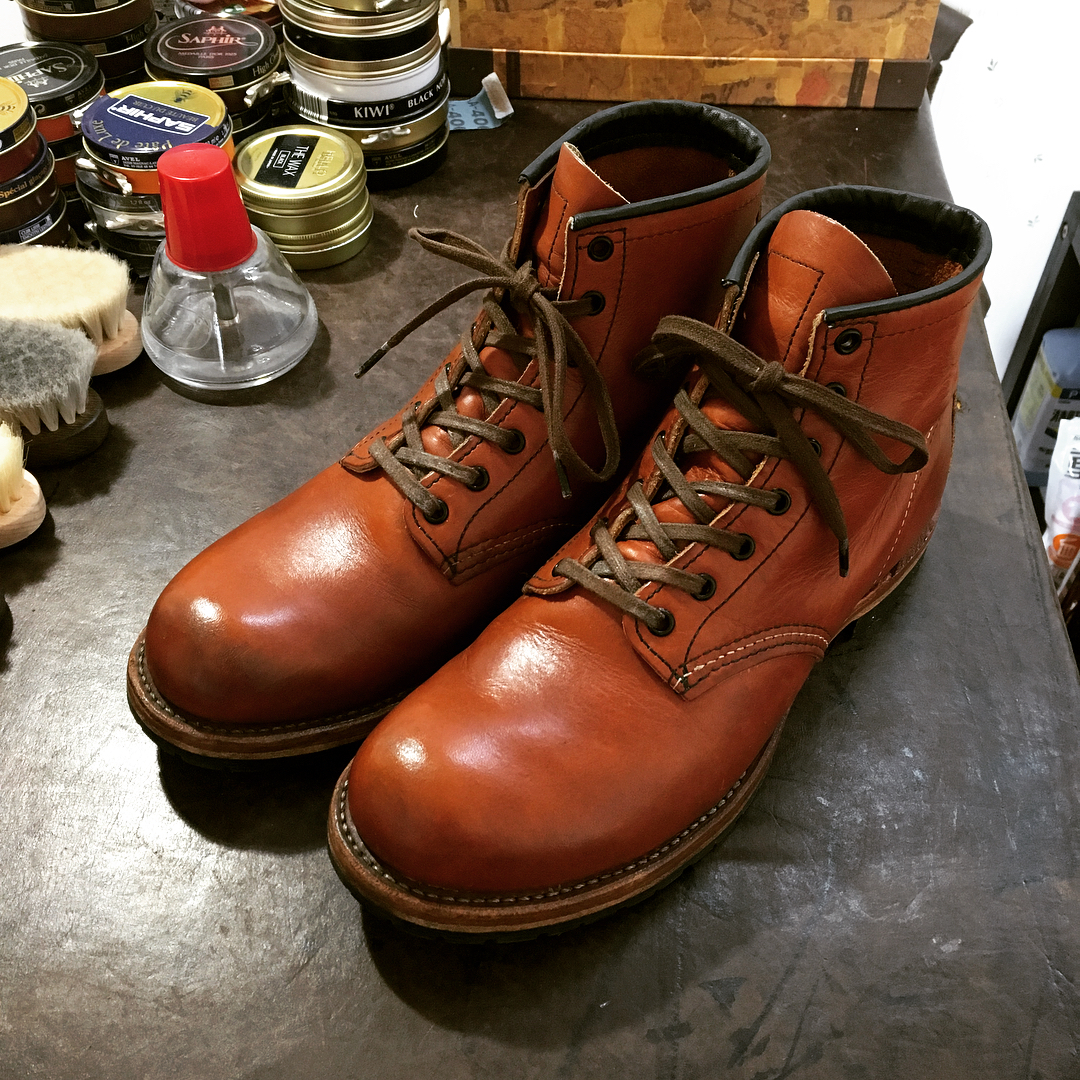 after shoe care for beckman redwing