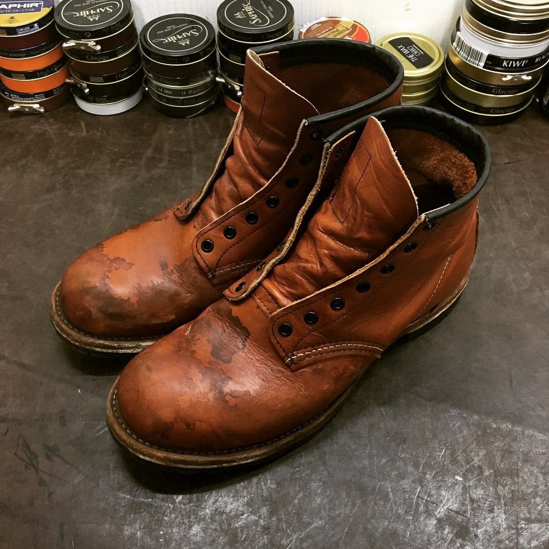 before shoe care for beckman redwing